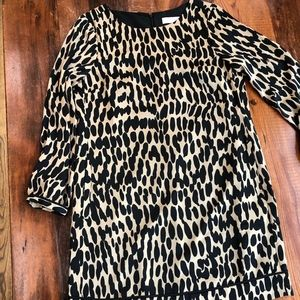 Animal Print shift dress Loft 10P